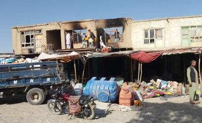 Photo of حریق نزدیک به ۳۰ دکان در جنگ دیشب در المار ولایت فاریاب