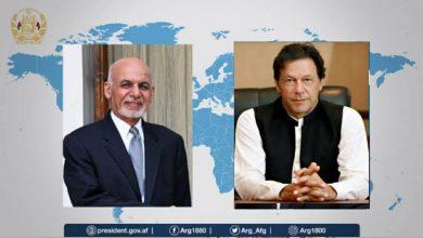 Photo of گفتگوی عمران خان و غنی دربارهصلح افغانستان